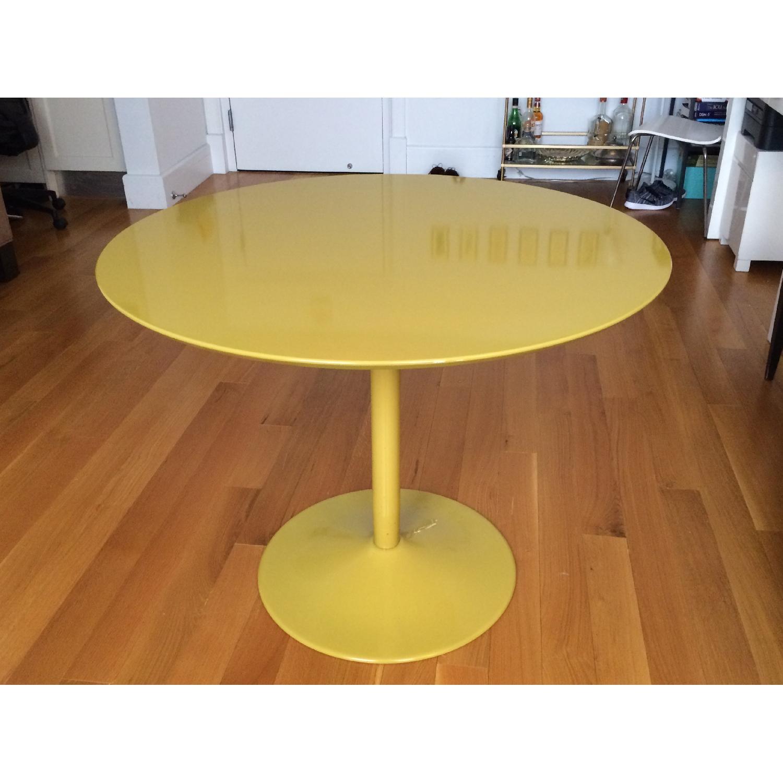 CB2 Yellow Tulip-Bottom Dining Table - image-3