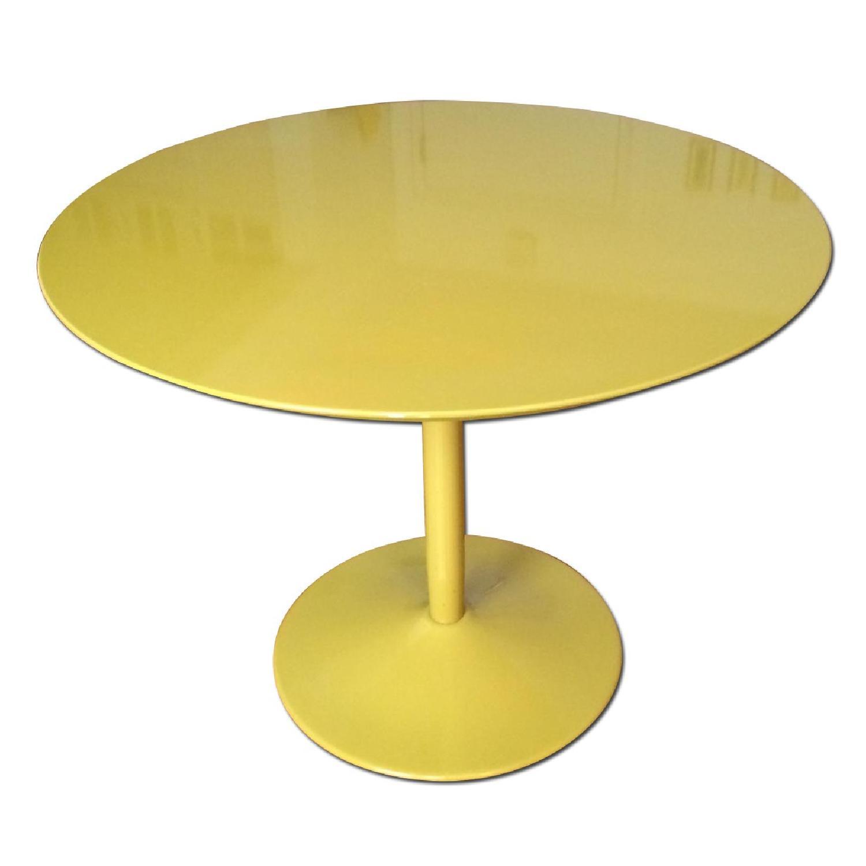 CB2 Yellow Tulip-Bottom Dining Table - image-0