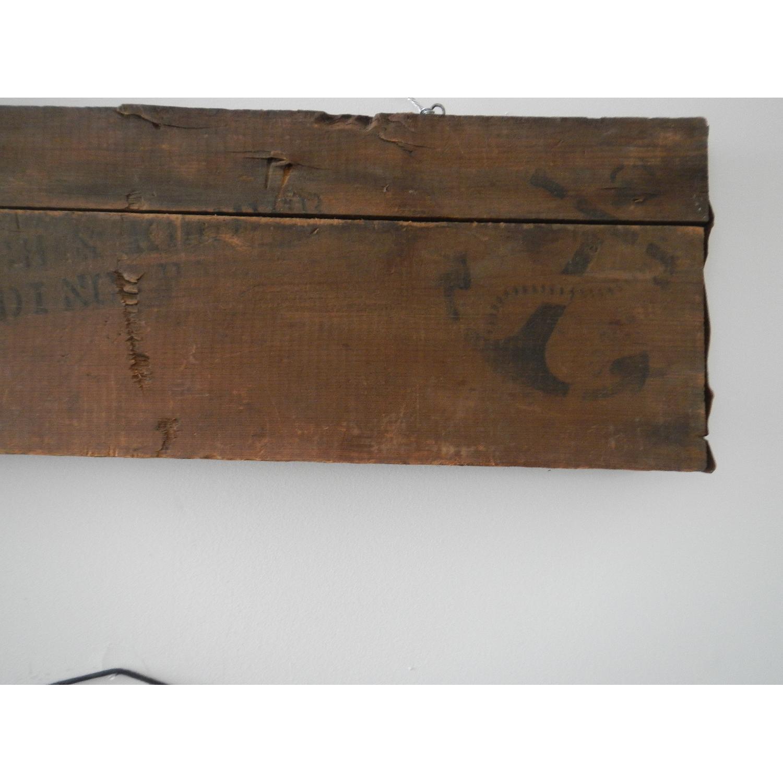 Vintage Wooden Shipping Crate Slat Art Decor - image-3