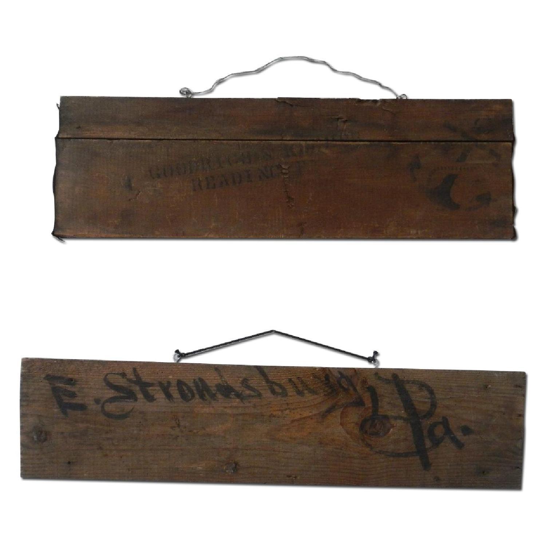 Vintage Wooden Shipping Crate Slat Art Decor - image-0