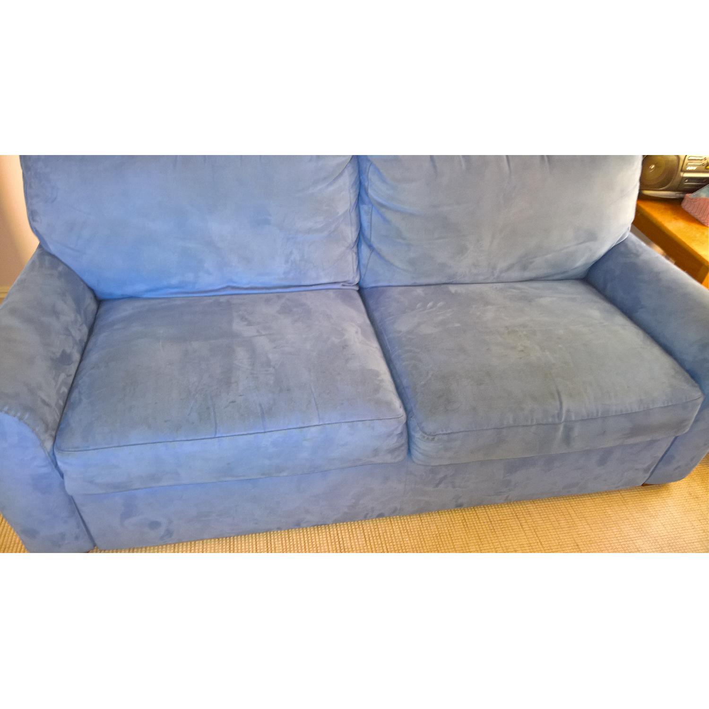 American Leather Ultrasuede Microfiber Queen Sofa Bed - image-1