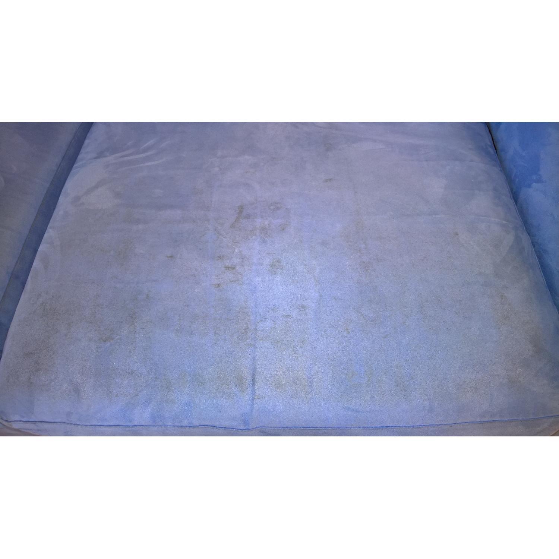 American Leather Ultrasuede Microfiber Queen Sofa Bed - image-4