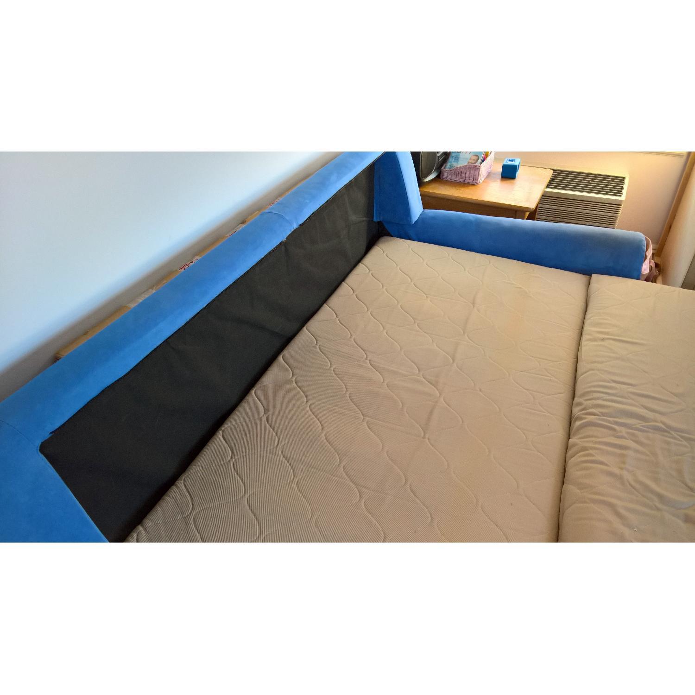 American Leather Ultrasuede Microfiber Queen Sofa Bed - image-5