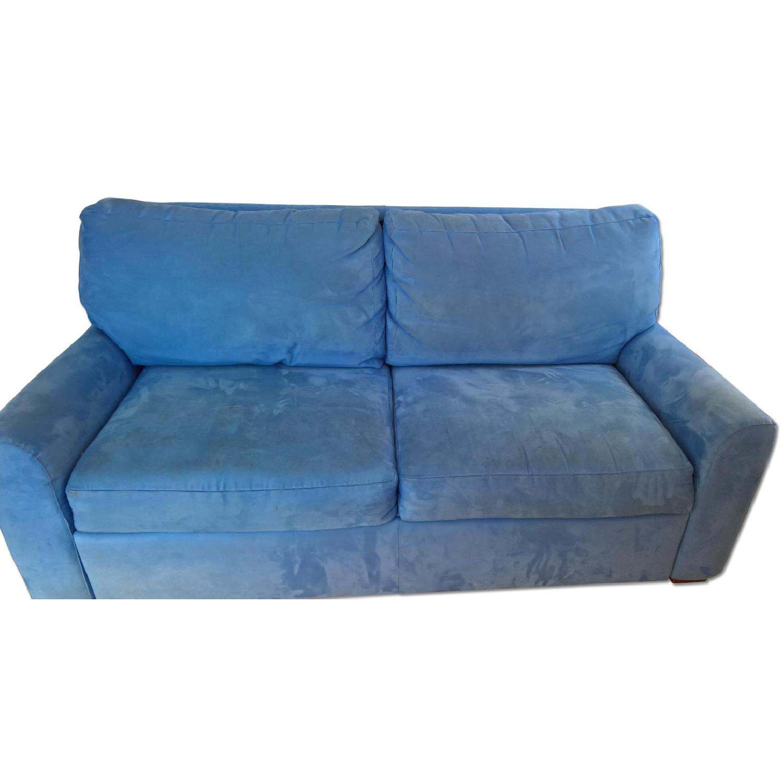American Leather Ultrasuede Microfiber Queen Sofa Bed - image-0