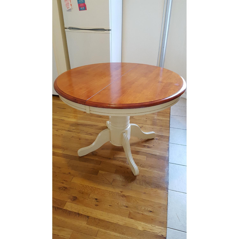 Expandable two tone kitchen table aptdeco - Kitchen table expandable ...