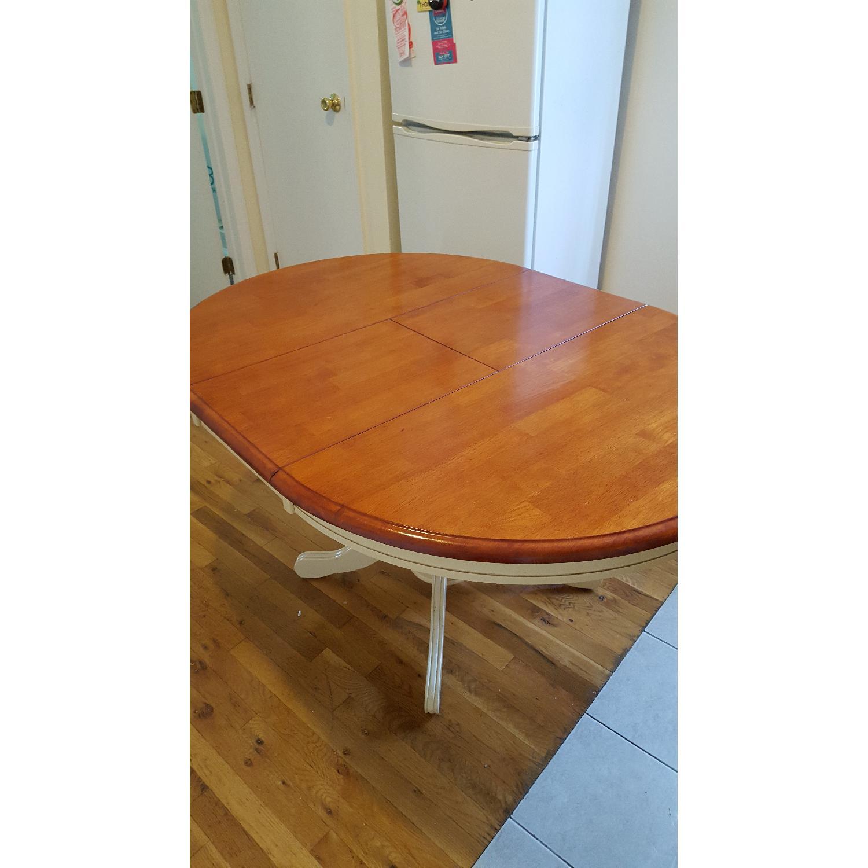 Expandable Two Tone Kitchen Table Aptdeco