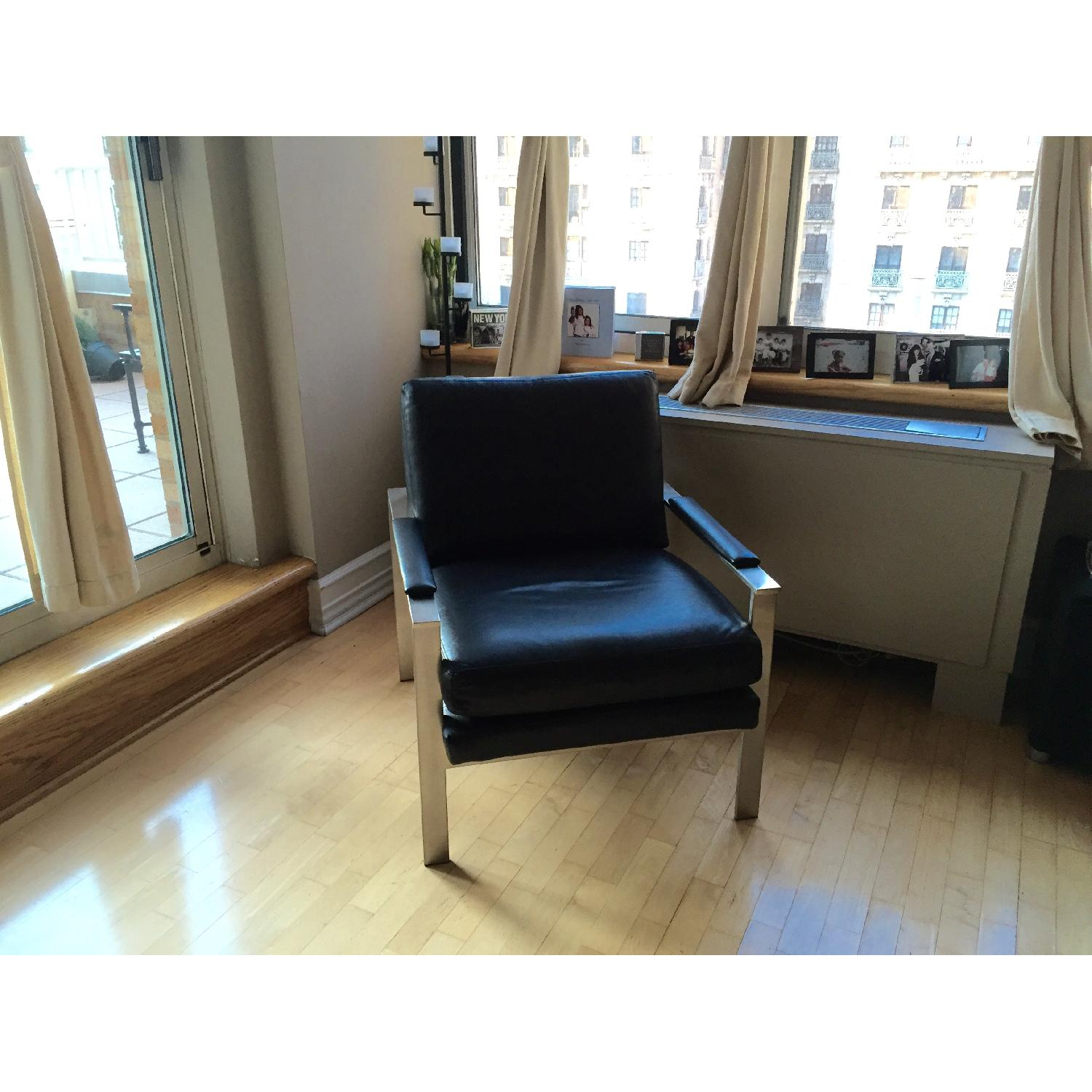 Ethan Allen Jericho Leather Chair - image-1