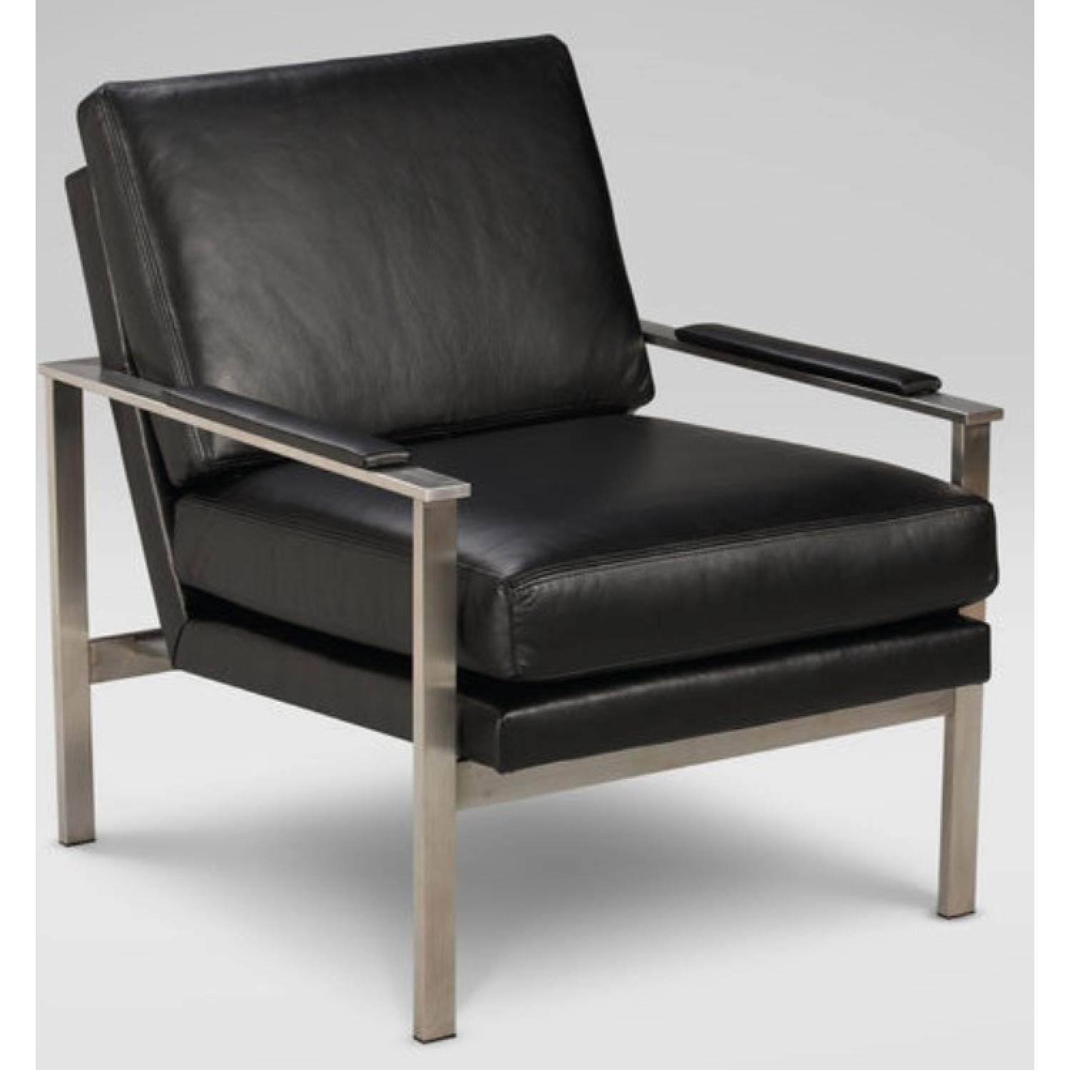 Ethan Allen Jericho Leather Chair - image-3