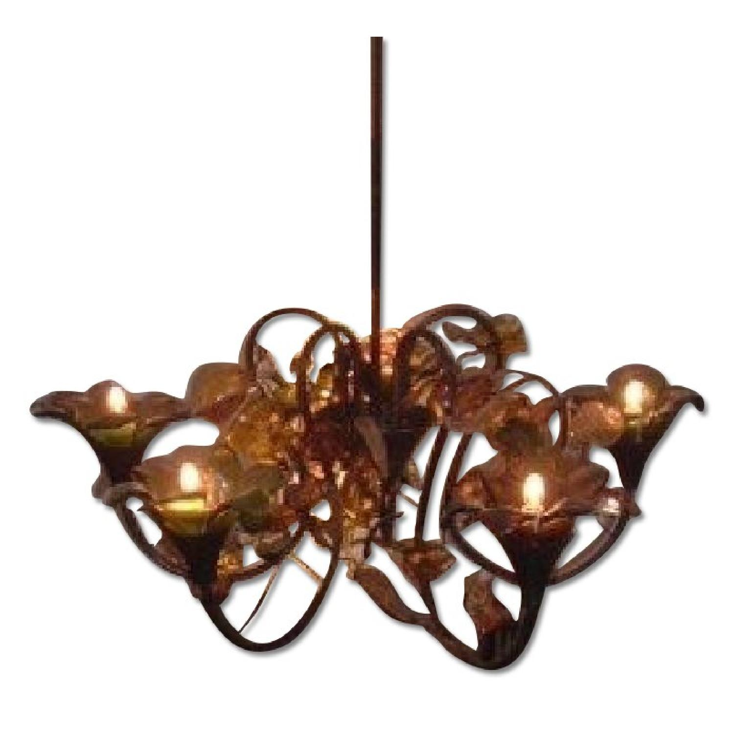 Floral Multi-Color Chandelier from Poland - image-0