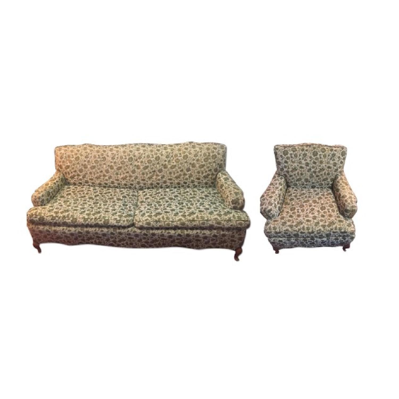 Vintage Sofa + Armchair - image-7