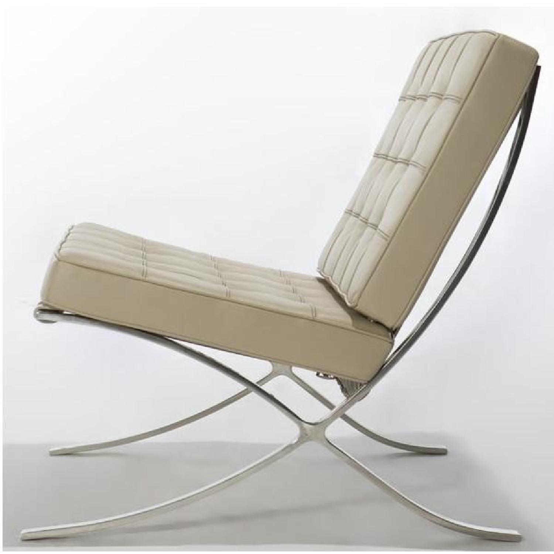 Barcelona Inspired Cream Off-White Chair - image-1