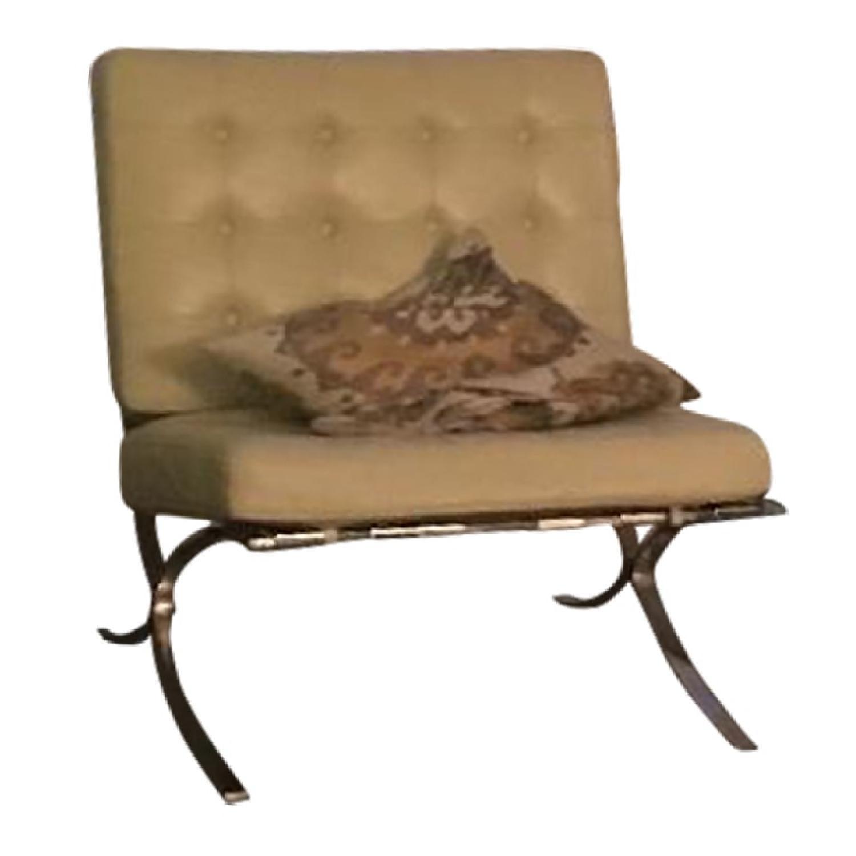 Barcelona Inspired Cream Off-White Chair - image-0