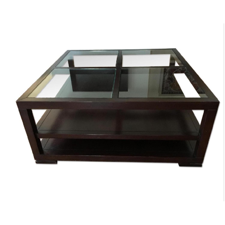 ABC Carpet & Home Oak Coffee Table w/ Shelves - image-0
