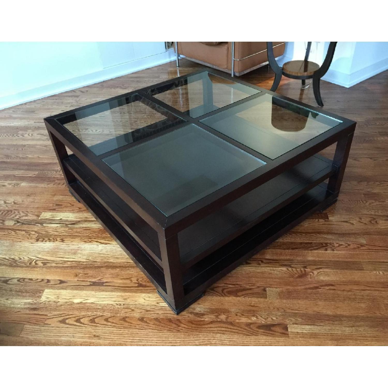 ABC Carpet & Home Oak Coffee Table w/ Shelves - image-2