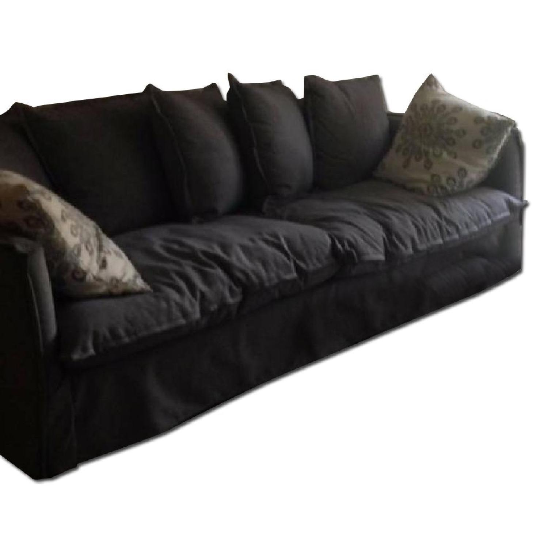 Scott Jordan Furniture Blue Down Sofa - image-0
