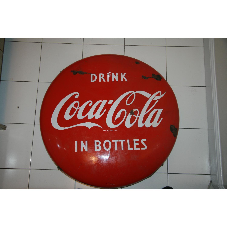 1940's Antique Coke Sign - image-1