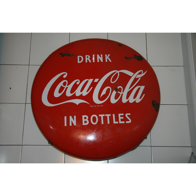 1940's Antique Coke Sign - image-2