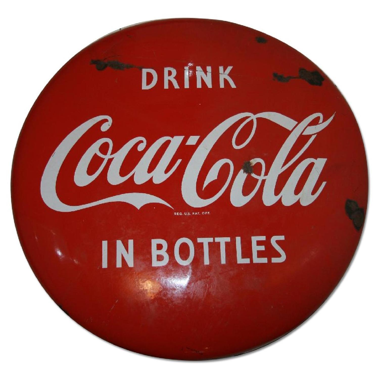 1940's Antique Coke Sign - image-0