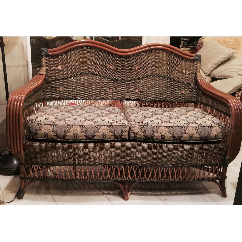 Wicker Loveseat + Chair & Ottoman - image-1