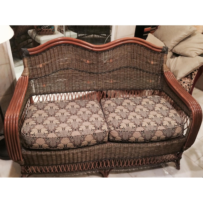 Wicker Loveseat + Chair & Ottoman - image-2