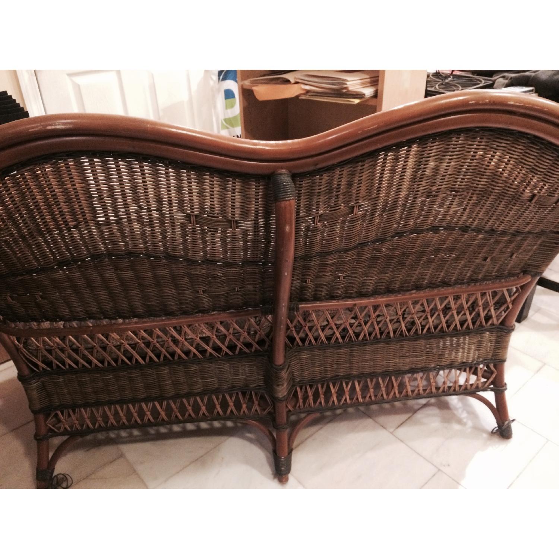 Wicker Loveseat + Chair & Ottoman - image-3