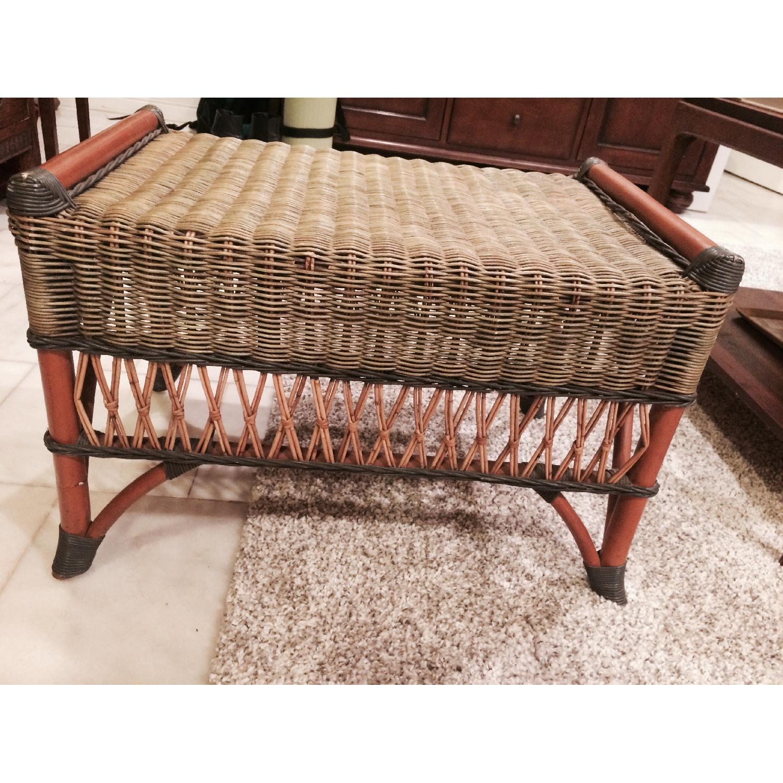 Wicker Loveseat + Chair & Ottoman - image-6