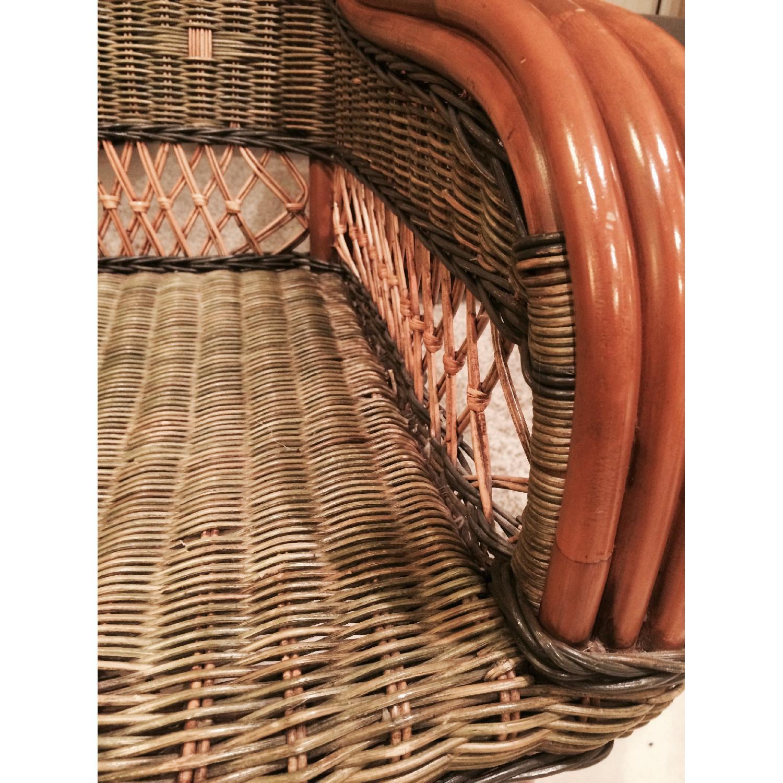 Wicker Loveseat + Chair & Ottoman - image-7