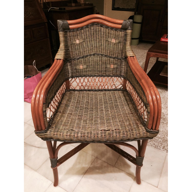 Wicker Loveseat + Chair & Ottoman - image-8