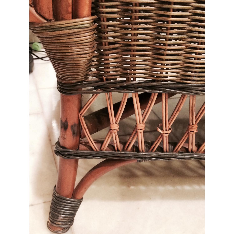 Wicker Loveseat + Chair & Ottoman - image-9