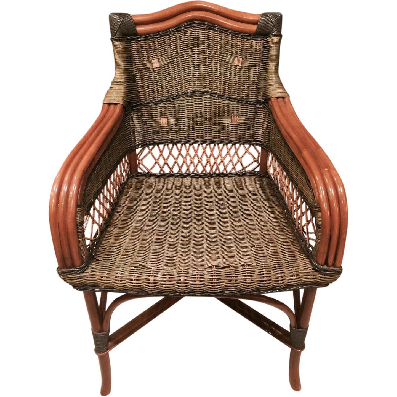 Wicker Loveseat + Chair & Ottoman - image-10