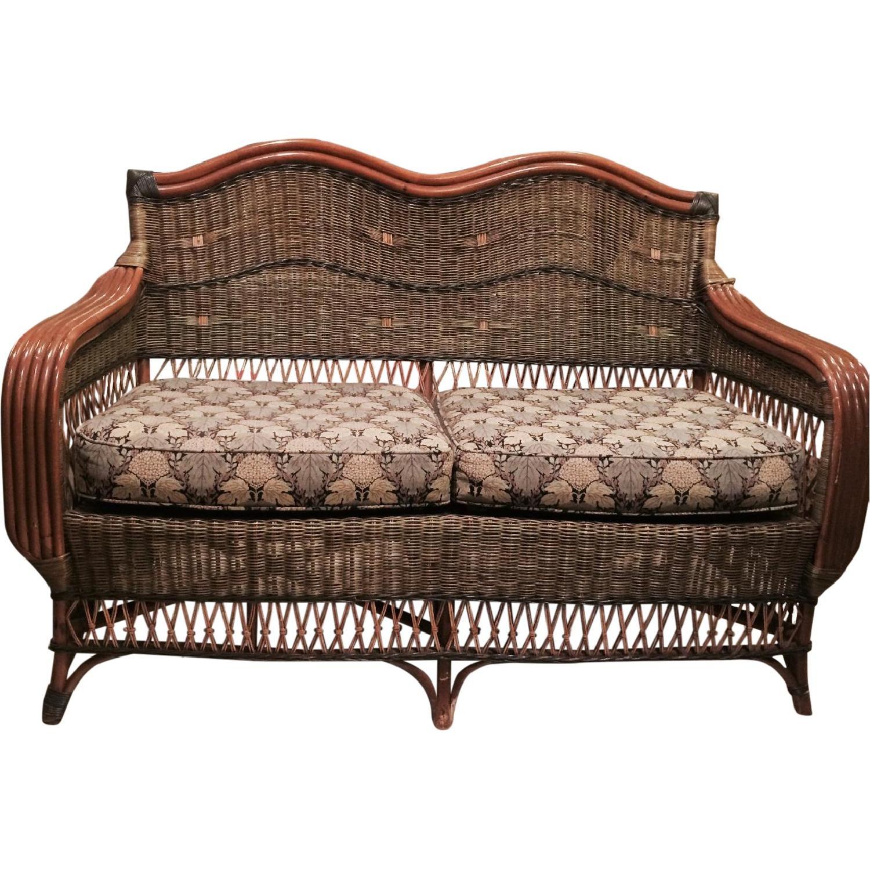 Wicker Loveseat + Chair & Ottoman - image-0