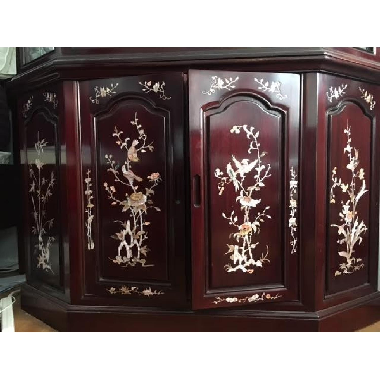 Asian Rosewood Curio Cabinet - image-3
