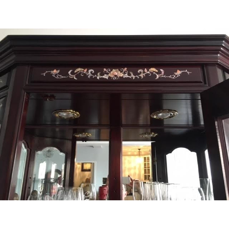 Asian Rosewood Curio Cabinet - image-5