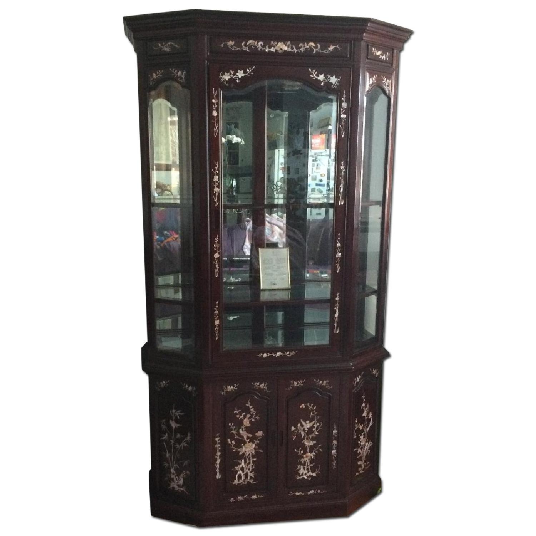 Asian Rosewood Curio Cabinet - image-0