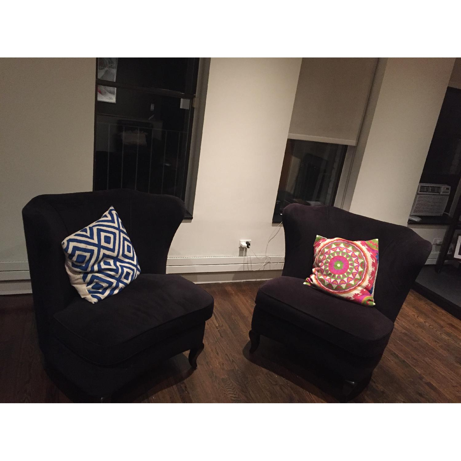 Crate & Barrel Accent Chairs - Pair - image-2
