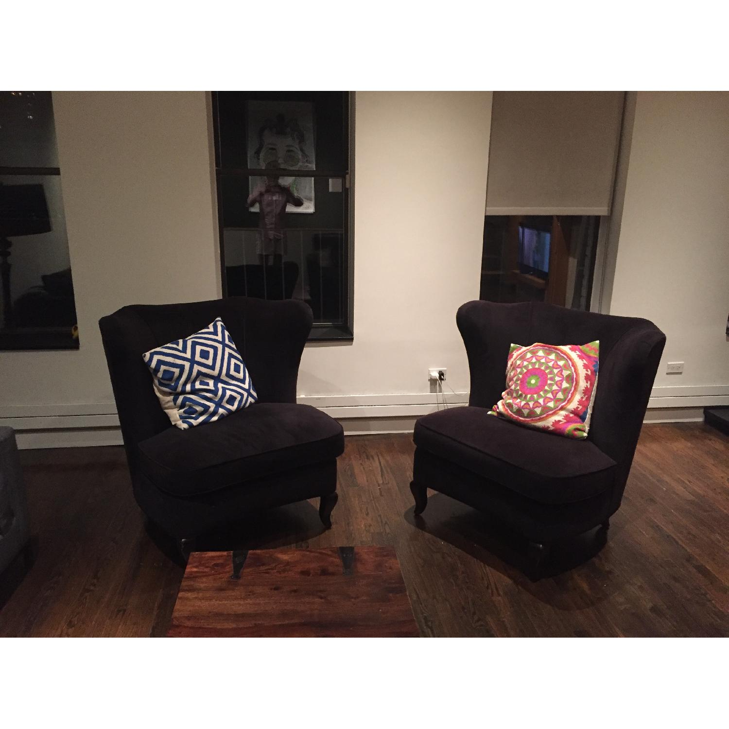 Crate & Barrel Accent Chairs - Pair - image-3