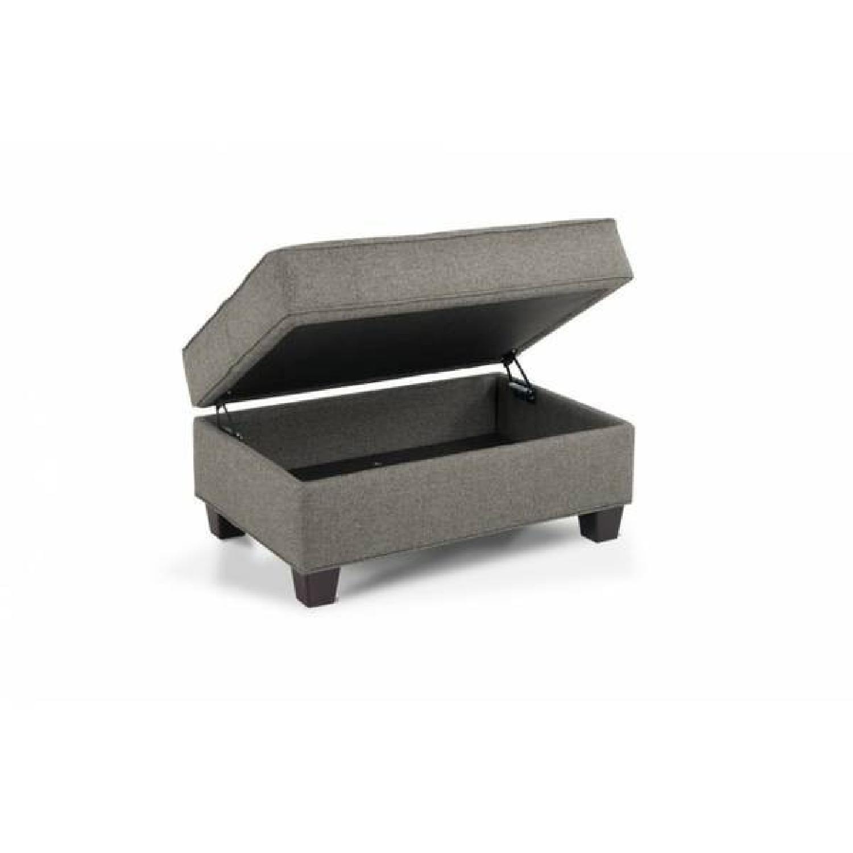 Bob's Grey Kasey Sofa + Chair and a Half & Ottoman - image-1