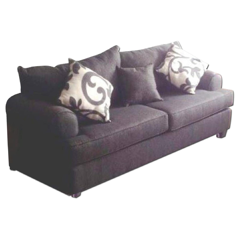 Bob's Grey Kasey Sofa + Chair and a Half & Ottoman - image-0
