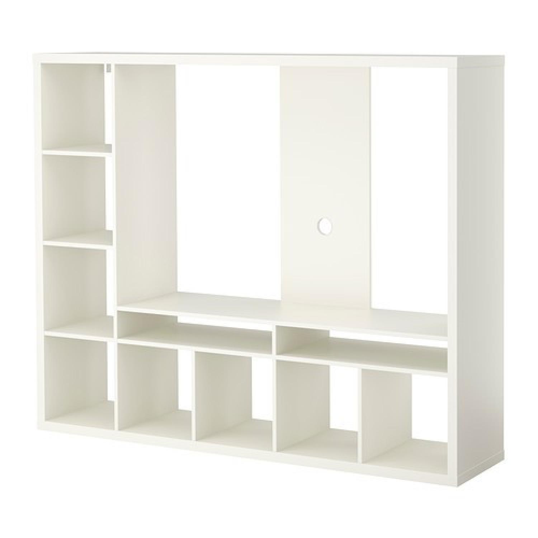 Ikea Lappland TV Entertainment Center + 5 Storage Boxes - image-3