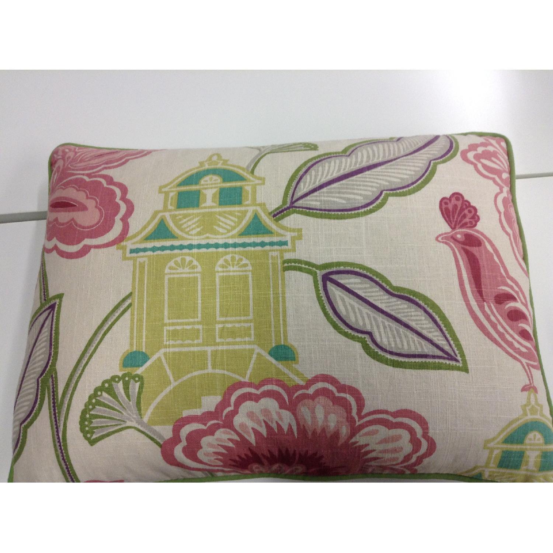 Bettertex Interiors Design Shumacher Pagoda Fabric Decorative Pillows - Pair - image-1