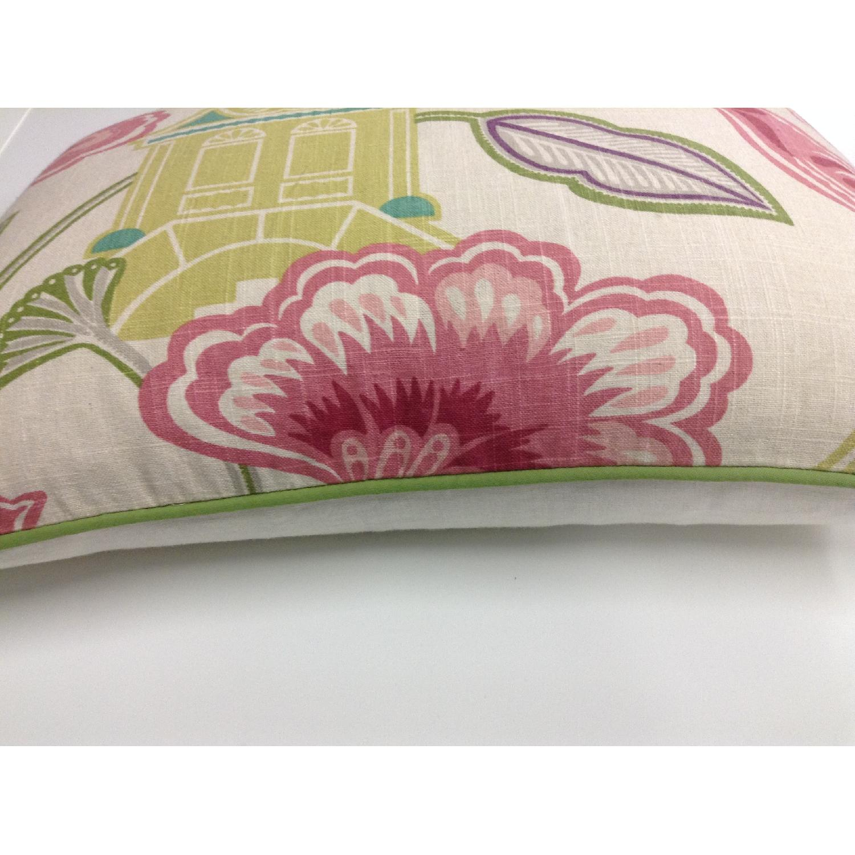 Bettertex Interiors Design Shumacher Pagoda Fabric Decorative Pillows - Pair - image-3