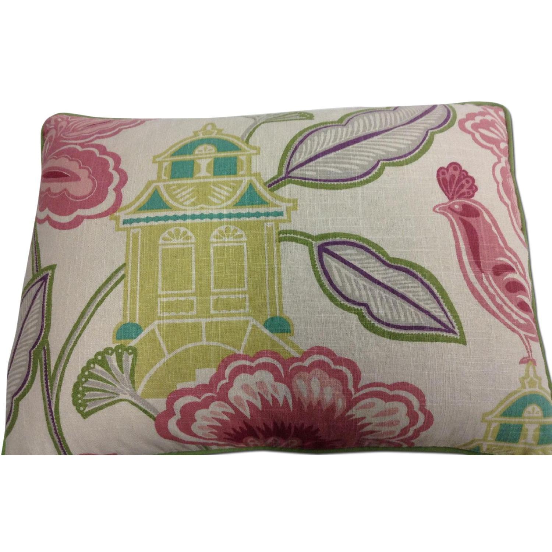 Bettertex Interiors Design Shumacher Pagoda Fabric Decorative Pillows - Pair - image-0