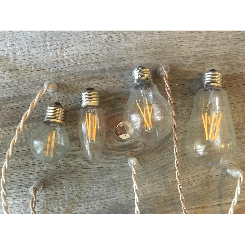 Reclaimed Barn Wood Chandelier w/ Edison Bulb - image-2