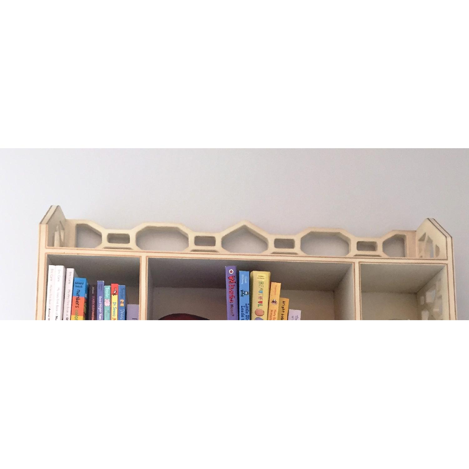 Distressed White Wall Shelving Unit - image-3