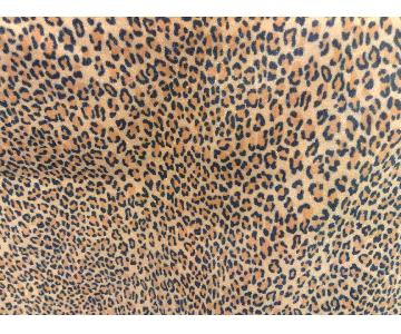 Wide Gold & Brown Leopard/Animal Print Microfiber Upholstery