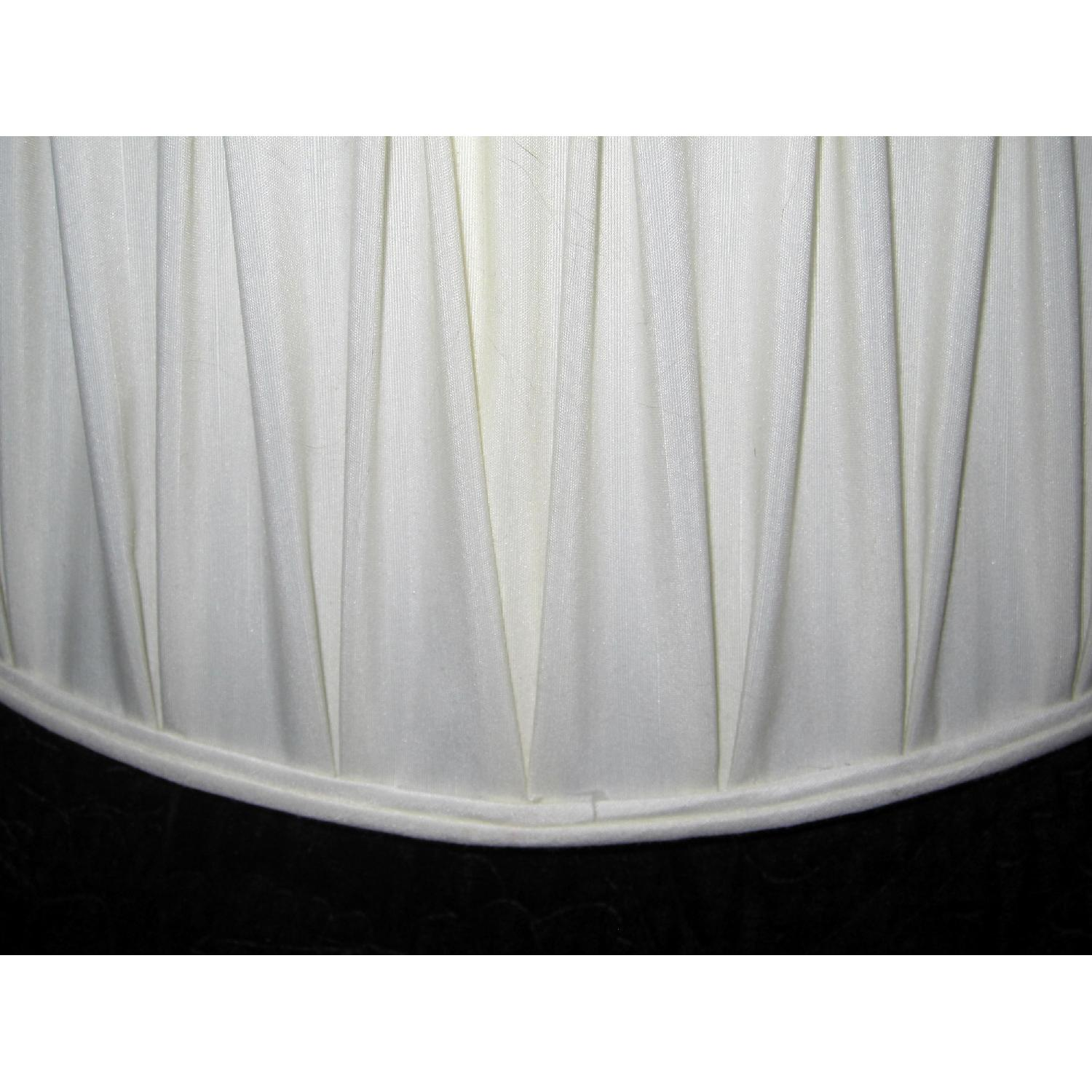 Ivory Silk-Lined Silk Pleated Lamp Shades - image-7