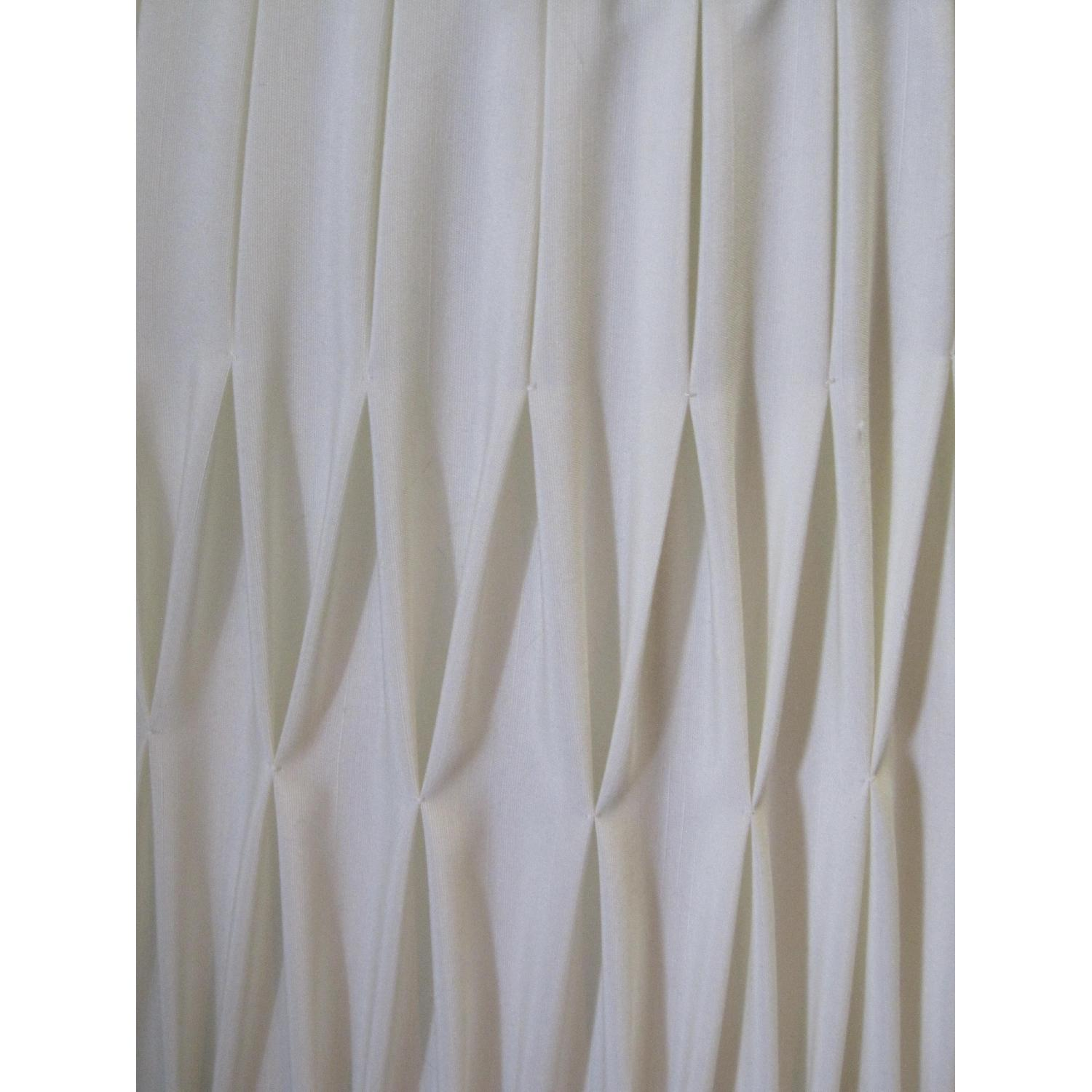 Ivory Silk-Lined Silk Pleated Lamp Shades - image-8
