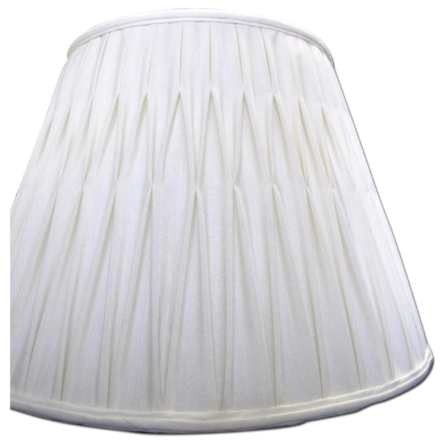 Ivory Silk-Lined Silk Pleated Lamp Shades - image-0