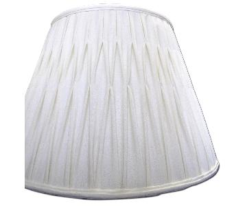 Ivory Silk-Lined Silk Pleated Lamp Shades