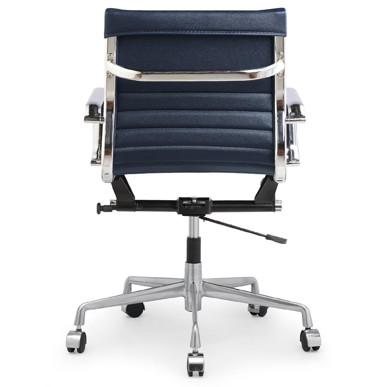 Meelano Office Chair In Vegan Leather - Orange - image-1